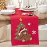 5500 Embroidered Christmas Bear Runner