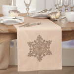 561 Snowflake Design Beaded Runner