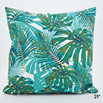 6140 tropical leaf outdoor pillow