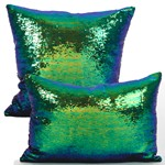 618 Sequin Mermaid Pillow Closeout