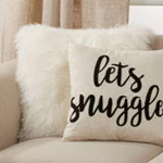 6271 Lets Snuggle Embroidered Pillow