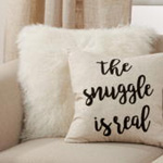 6272 The Snuggle Is Real Embroidered Pillow