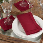 6309 Dinner Napkin With Hemstitch Border