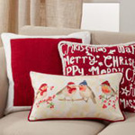 6310 Christmas Birds Pillow