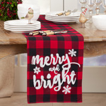 6622 Buffalo Plaid Merry and Bright Runner