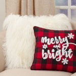 6622 Buffalo Plaid Merry and Bright Pillow