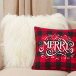 6627 Buffalo Plaid Merry Pillow