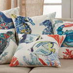 673 Tropical Fish Pillow