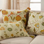 7102 Embroidered Floral Pillow