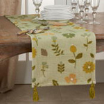 7103 Embroidered Floral Runner
