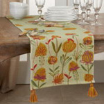 7104 Embroidered Floral Runner