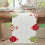 7172 Embroidered Ornaments Runner