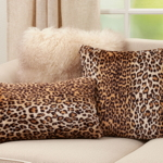 7406 Cheetah Print Faux Fur Pillow