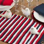 7476 Striped Patriotic Chindi Placemat