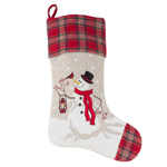 7754 happy snowman stocking