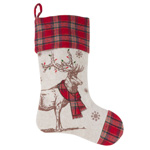 7755 festive reindeer stocking