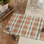 805 Plaid Woven Water Hyacinth Placemat
