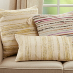 856 Striped Woven Pillow