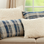 858 Striped Woven Pillow