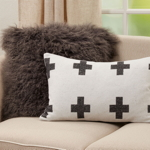 886 Reversible Plus Sign Pillow