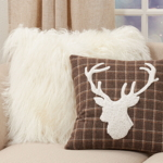 8900 Plaid Reindeer Pillow