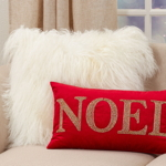 9052 Beaded Noel Pillow