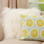 9080 Embroidered Lime Pillow