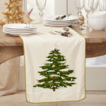 9159 Embroidered Christmas Tree Runner