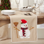 9162 Embroidered Snowman Runner