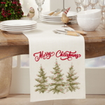 9750 Merry Christmas Trees Runner