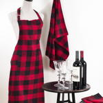 1030 plaid apron