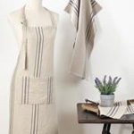 1117 striped linen apron