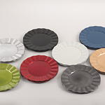 CH205 ruffle design charger plates
