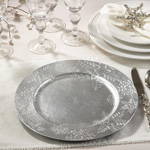 CH332 snowflake design charger plates