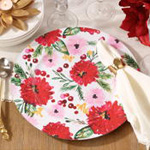 CH418 holiday floral charger