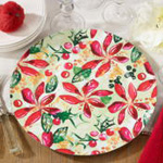 CH419 wild poinsettia charger