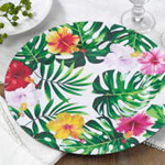 CH610 printed flower design charger plate