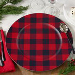 CH801 buffalo plaid charger