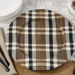CH805 plaid woven water hyacinth charger
