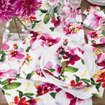 1618 printed floral design placemat