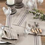 1117 striped linen runner