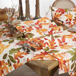 1227 Embroidered Autumn Leaves Runner