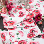 1621 watercolor floral printed runner