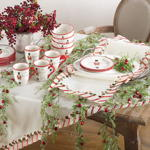 1633 candy cane tablecloth