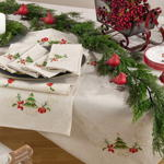 1710 embroidered christmas runner