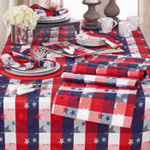 1776 Americana Checkered Runner
