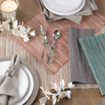 217 shimmering woven nubby placemat