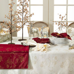 3075 Jacquard Xmas Tablecloth