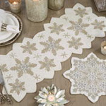 3284 Beaded Snowflake Runner