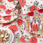 418 holiday floral topper